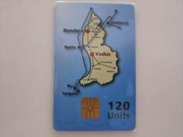 Chip Card,map - Liechtenstein