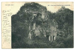 Indochine Cambodge Souvenir Des Ruines D´ Angkor   Éditeur Planté. DNS - Cambodge