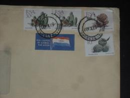 LETTRE AFRIQUE DU SUD SOUTH AFRICA - YT 668 X 2 673 674 - FLORE FLEUR PLANTE - - Afrique Du Sud (1961-...)