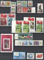 DDR 1985 Mi 2934-2938, 2939, 2940 ZD, 2941-2944, Block 82, 2946, 2947, 2948, 2949, 2950, 2951. 2936, 2943 3x ** MNH - Ungebraucht