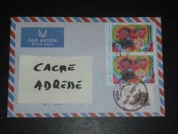 LETTRE AFRIQUE DU SUD SOUTH AFRICA - YT 844 X 2 ET 662 - PAIX ET BONNE VOLONTE - DESSIN ENFANT COEUR - - Afrique Du Sud (1961-...)