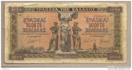 Grecia - Banconota Circolata Da 5000 Dracme - 1942 - Griekenland