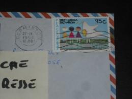 LETTRE AFRIQUE DU SUD SOUTH AFRICA - YT 846 - PAIX ET BONNE VOLONTE - DESSIN ENFANT - - Afrique Du Sud (1961-...)