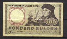 NETHERLANDS WPM 85 100 GULDEN, 2.02.1953 . (3B26) - [2] 1815-… : Regno Dei Paesi Bassi