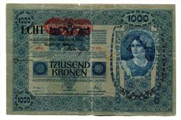 "Autriche Austria Österreich Hongrie Hungary Ungarn Overprint  """"ECHT """" 1000 Kronen 1902 # 2 - Autriche"