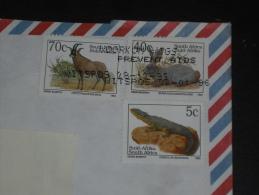 LETTRE AFRIQUE DU SUD SOUTH AFRICA - YT 817 812 809 - FAUNE HIPPOTRAGUE LAPIN LEZARD - - Afrique Du Sud (1961-...)
