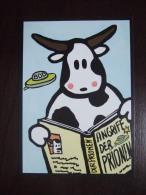 UFO And Cow Carte Postale - Publicité