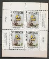 BOATS - 1988 ARGENTINA Surtax Feuillet Of 4 # 1712 - EXPOSITION PRENFIL´88 - ** MINT NH - Schiffe