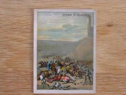 LE COMBAT DE MONTLHERY  Chromo Enseignement Patriotique Par L´ Image Trading Card Chromos - Chromos