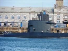 """BATph06 - Sous Marin """"DOLFIJN"""" - Hollande - Relache Au Port De Plymouth - 2 Photos - Guerra"""