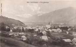 74 - TANINGES - Vue Générale + Pub épiceries, Vins & Spritueux  à DINAN: LEROUX & NAULIN à Saint Charles - Taninges