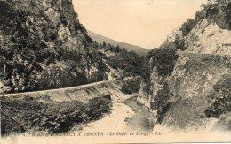 CPA - DINGY-SAINT-CLAIR (74)  - Route D´Annecy à Thônes Dans Le Défilé De Dingy S - Dingy-Saint-Clair