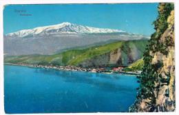 I846 Giardini Naxos (Messina) - Panorama Con L'Etna / Non Viaggiata - Italia