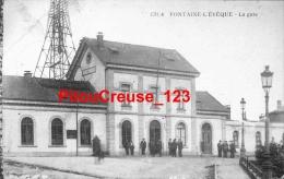 """BELGIQUE - FONTAINE L'EVEQUE - """" La Gare - Animation """" - Fontaine-l'Evêque"""