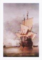 Maritime Art Postcard Cannon Shot Sail Warship Ship Painting Willem Van De Veld - Guerra