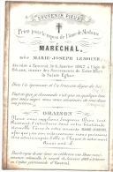 ENSIVAL (4800) Déces De Mme MARECHAL Née Marie Joseph LEMOINE 1867 - Décès
