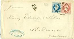 Autriche - No 36 (complém) Sur Entier (U51) Wien Vers Maderno Du 24/12/1867, Cachet Brescia Udine Verona, Luxe, See Scan - 1850-1918 Impero