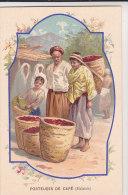 MALAISIE   -  Porteuse De Café  -  Carte Publicitaire De La Collection Source De St-Colomban De BAINS-les-BAINS - Malaysia
