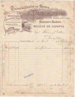 71 CHALON SUR SAONE FACTURE 1911 QUINCAILLERIE En Gros F. FLORIMOND  * K10 - France