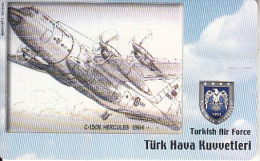 TURKEY(chip) - Airplane, C-150E Hercules 1964(50 Units), Used - Vliegtuigen