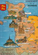 50 - Abbaye De Bricquebec, Montebourg, Lessay, La Lucerne, Blanchelande & Le Mont Saint Michel, Carteret Et Coutances - France
