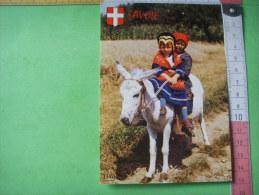 70) Savoie:  Images De Chez Nous : Petits Savoyards En  Promenade :à Dos D´ane:folklore - Francia