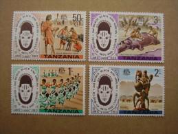TANZANIA 1977 FESTIVAL ARTS & CULTURE Issue FULL SET FOUR MNH. - Tanzania (1964-...)