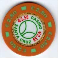 Espagne : Jeton De Casino Santa Cruz €2.50 - Casino