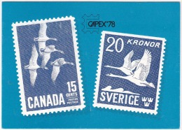 Sweden Canada 1978 FDI - Philatelic Exhibition CAPEX'78  Stockholm - Tornto - Philatelic Exhibitions