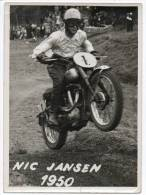 25621  -   Nic  Jansen   Moto-cross   Photo   17,5  X  13 - Cartoline