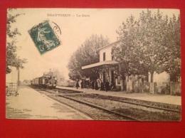 Cpa 30 BEAUVOISIN La Gare  Train - Other Municipalities