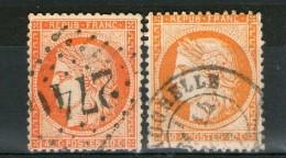 2 N° 38°_1 Orange (dents Sud)_1 Rouge-orange_cote 30.00 - 1870 Siège De Paris