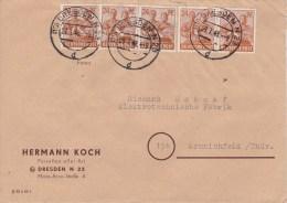 Russian Zone; Zehnfach Cover - Dresden - Zona Soviética
