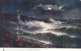 G.E. Newton - Rough Sea Off Brighton In Sussex -  Series 1488 - Newton