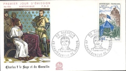 Env Fdc France 16/11/68 Chateauneuf De Randon, N°1578, Mort De Du Guesclin, Charles V - FDC