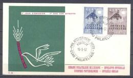 Europa 1957 Belgique FDC Enveloppe Premier Jour YT N°1025/1026 - Europa-CEPT