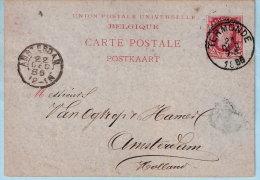 Postkaart, Afst. TERMONDE 2/12/1886 Naar AMSTERDAM 22/12/1886, Afz.: J. Philips - Postkaarten [1871-09]
