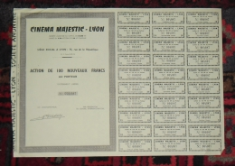 LYON Action 100 Francs Cinéma MAJESTIC 1963 - Cinéma & Théatre