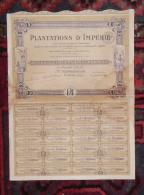 COTE D'IVOIRE Action 100 Francs PLANTATIONS D'IMPERIE 1928 Rare - Afrika