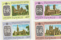 Tuvalu 1978 25th Anniversary Coronation Set MNH - Tuvalu