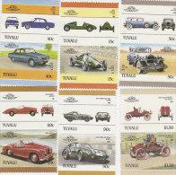Tuvalu 1984 Cars Part 4 Set MNH - Tuvalu