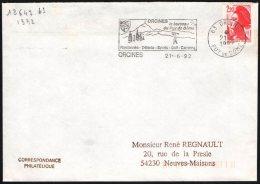FRANCE ORCINES 1992 - LE BERCEAU DU PUY DE DOME - RANDONNEE / DETENTE / SPORTS - GOLF / CAMPING - FLAMME - Golf