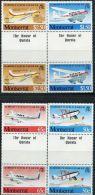GN0054 Montserrat 1983 Aircraft 4v+labal MNH - Montserrat