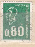 FRANCE N°1891 0.80 VERT TYPE MARIANNE DE  BECQUET ANNEAU LUNE OBL - Curiosidades: 1970-79 Usados