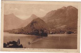 LAC D'ANNECY / PORT DE TALLOIRES - CHATEAU DE DUINGT ET MONTAGNE D\'ENTREVERNES - Annecy