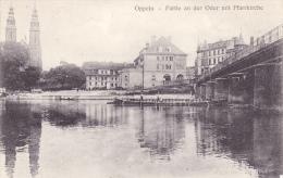 366/ Oppeln, Partie An Der Oder Mit Pfarrkirche, 1928 - Schlesien