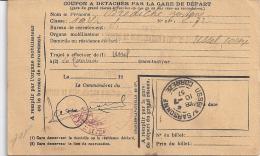ORDRE DE CONVOCATION SOUS LES DRAPEAUX  TAMPON CORREZE JUILLET 1937 - Altri