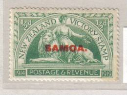SAMOA- 1/2D MINT NHM** - LEAGUE OF NATIONS MANDATE - NZ.VICTORY STAMP OVERPRINT - Samoa