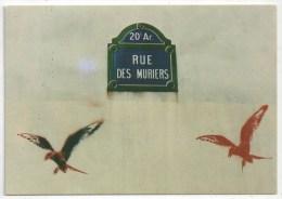 75 - PARIS 20 - Rue Des Mûriers - Graffitis D'Oiseaux - Arrondissement: 20