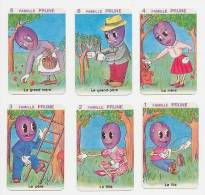 6 Cartes Famille Prune  /  Fruit / Prunes Humour  / Fruits / Plum Plums Humor  // IM 51/23 - Non Classés